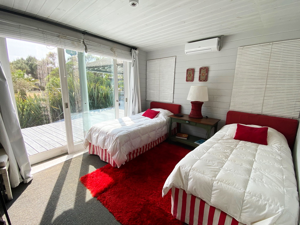 Bedroom of Mario Connio House on the Lagoon near Jose Ignacio