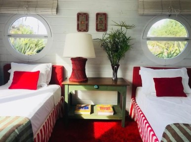 Guest Bedroom of Mario Connio House on the Lagoon near Jose Ignacio