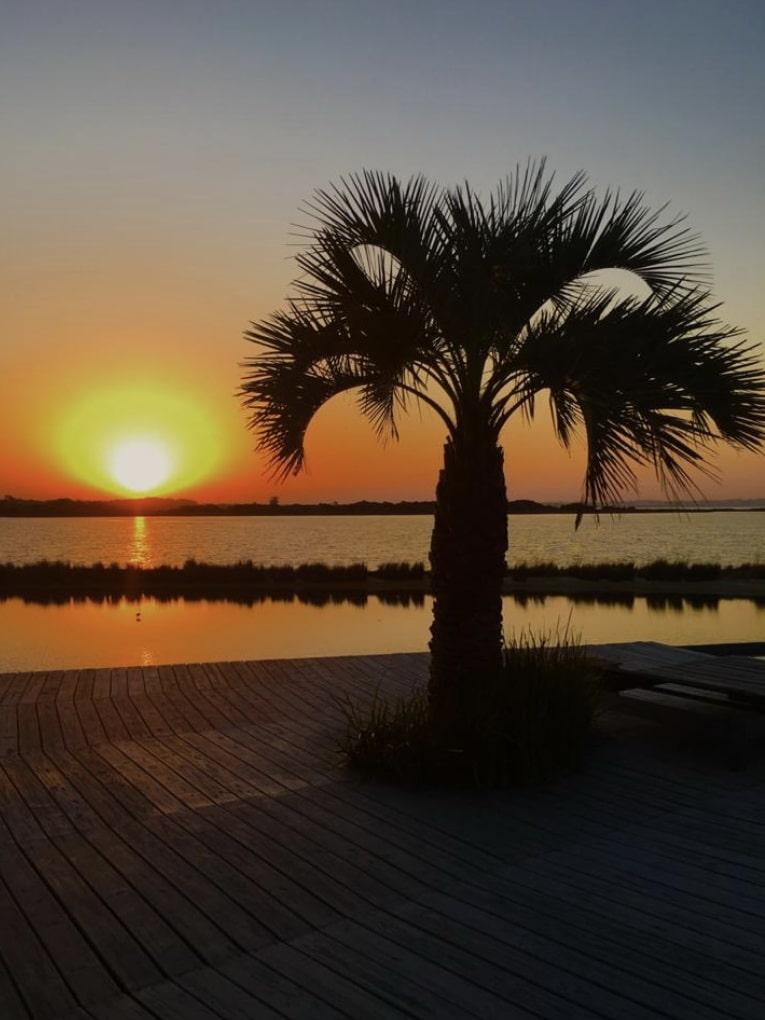 Sunset of Mario Connio House on the Lagoon near Jose Ignacio