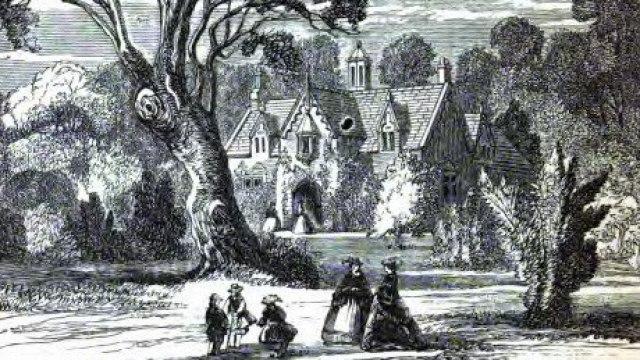 Een historische schets van het landgoed Invergowrie. - Voor Herald sun onroerend goed. Afbeelding geleverd door Stephen Tomisich.