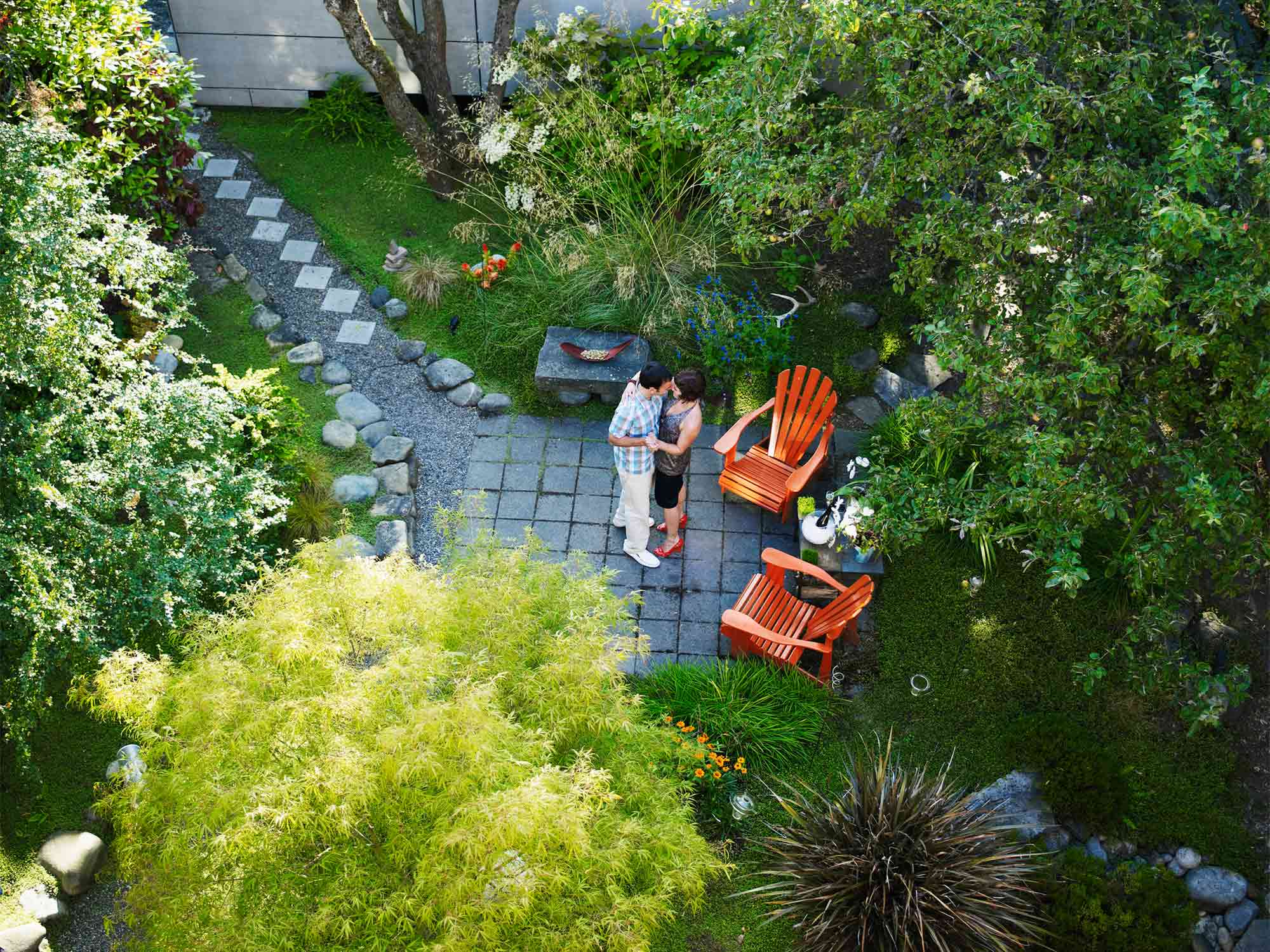 Garden Design Ideas with Pebbles and Pavers - realestate ... on Pebble Yard Ideas id=70349