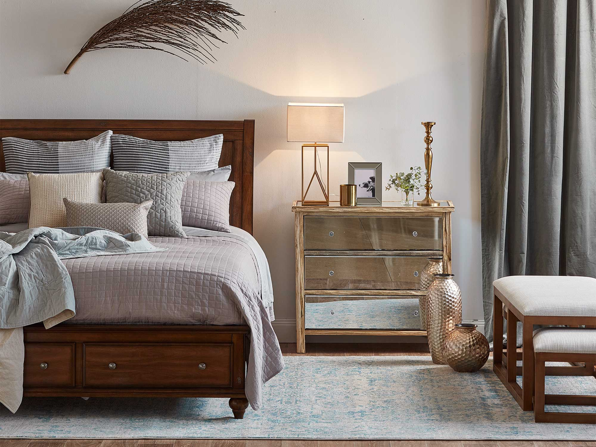 Bedroom Ideas with Curtains and Drapes - realestate.com.au on Bedroom Curtain Ideas  id=12560