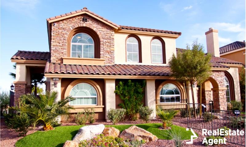 stucco house view