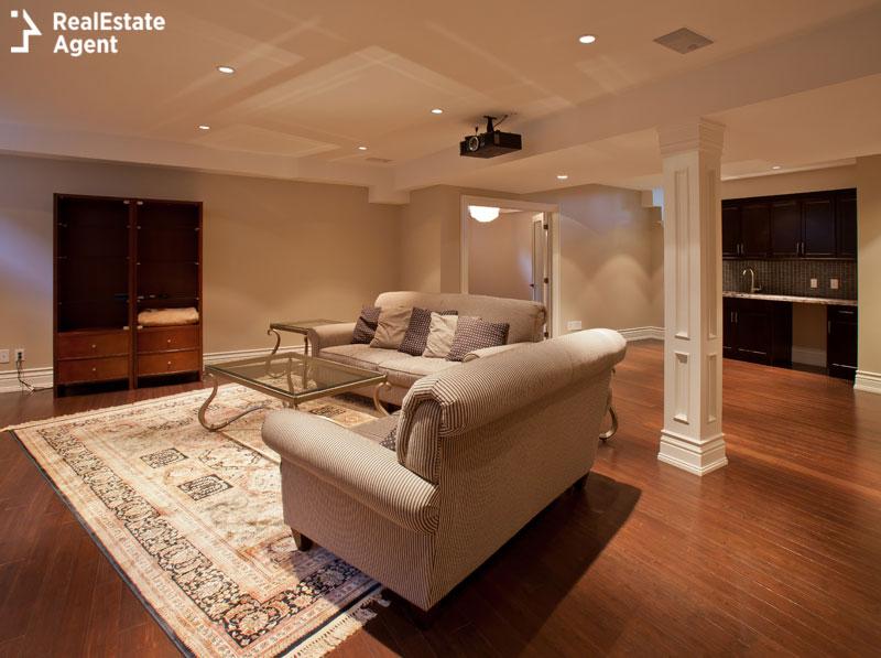 video projector basement remodels