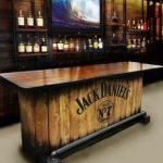 home whiskey bar, home jack daniels bar