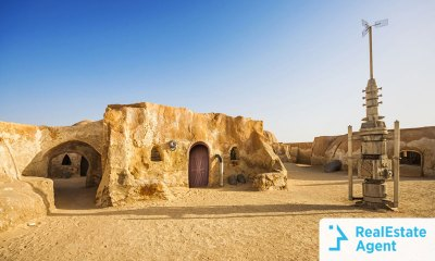 A vacation house on Tattooine from Star Wars