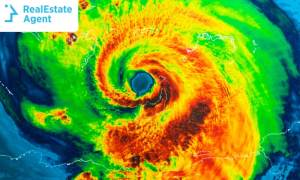 hurricane Michael view from above