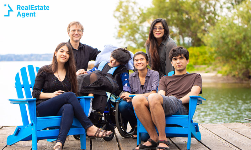 Group of young people with special needs