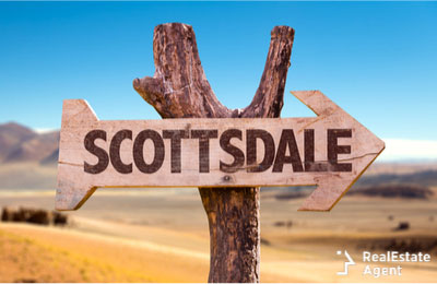 board sign for city of Scottsdale desert