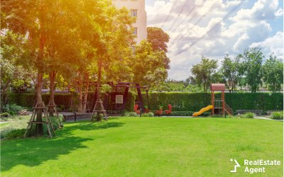 green outdoor place for children