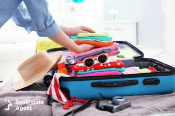 packing a traveler blue case