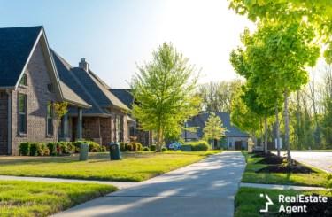 residential houses neighborhood street