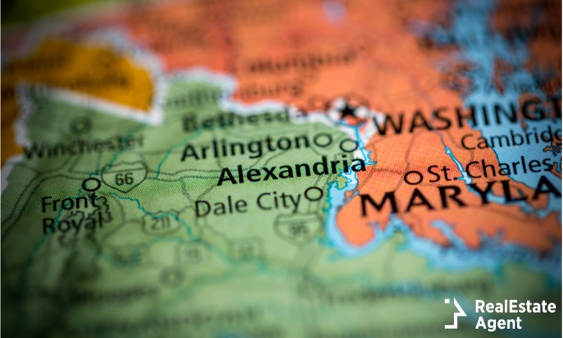 alexandria virginia us city map