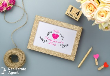 photo frame for valentines day concept