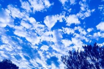 bright azzure sky
