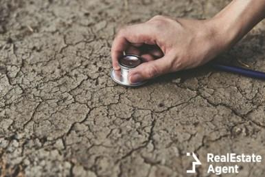 broken soil stesthoscop concept