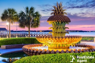 waterfront pineapple fountain