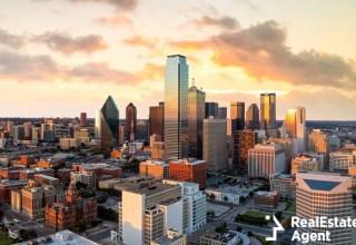 dallas texas cityscape blue sky