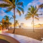 fort lauderdale beach florida usa dawn