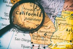 california close up map
