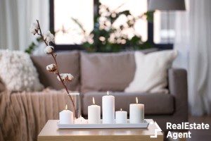 decoration hygge and cosiness concept