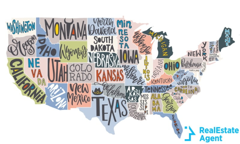 usa map with cities