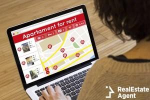 apartment search online concept