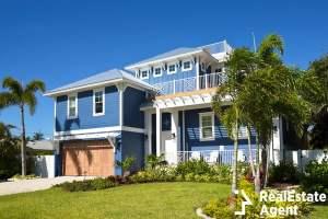beautiful new house florida palm trees