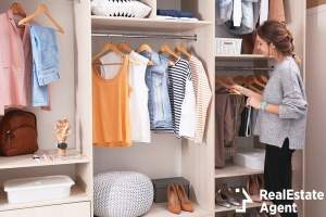 woman choosing outfit