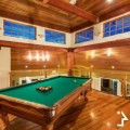 pool table in luxury home