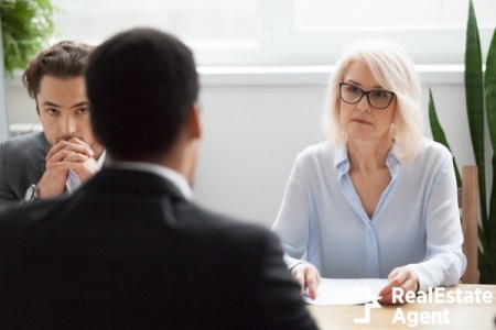 serious attentive senior female hr manager