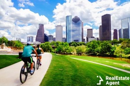 Bikers outside of Houston, TX
