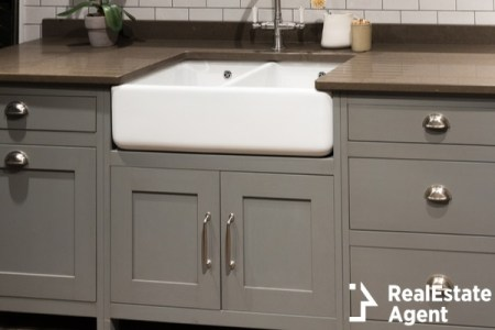 Gray luxury kitchen sink