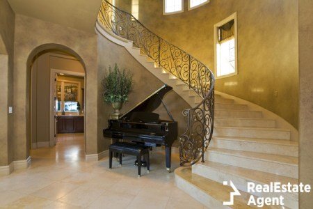 Piano in extravagant home