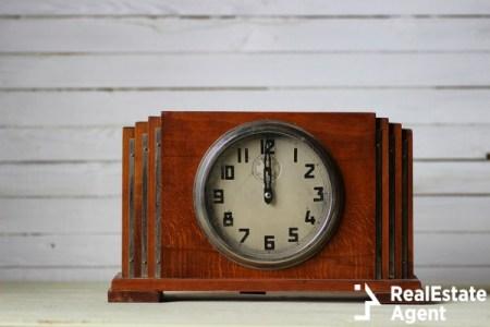 Antique clock on mantle