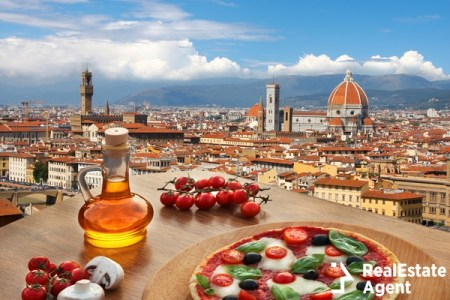 florence cathedral italian pizza view