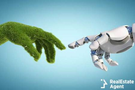 nature and robot concept