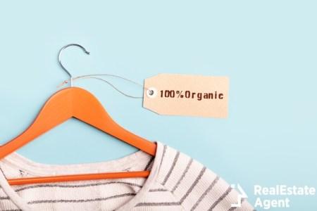 White stripped shirt on hanger tag