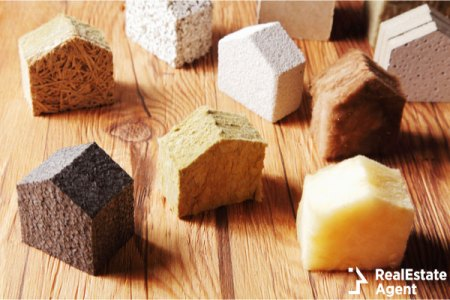 Close various scattered blocks insulation model