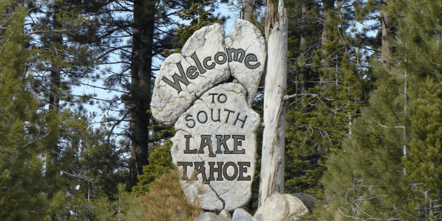 South Lake Tahoe Welcome Sign