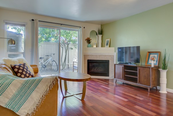 living-fireplace JUST LISTED - QUEEN ANNE CONDO WITH ROOFTOP DECK!