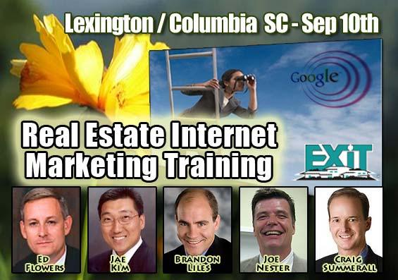 Columbia Lexington SC Real Estate Internet Marketing Training September 10th