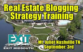 Nashville Real Estate Training - Blogging & Internet Marketing Strategy Seminar in Mount Juliet Tennessee Thursday September 3rd, 2009