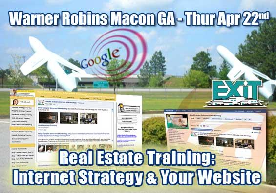 Warner Robins Macon GA Real Estate Web Strategy Training