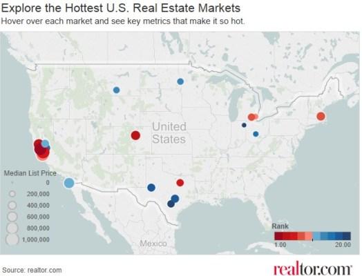 HottestMarketsMap