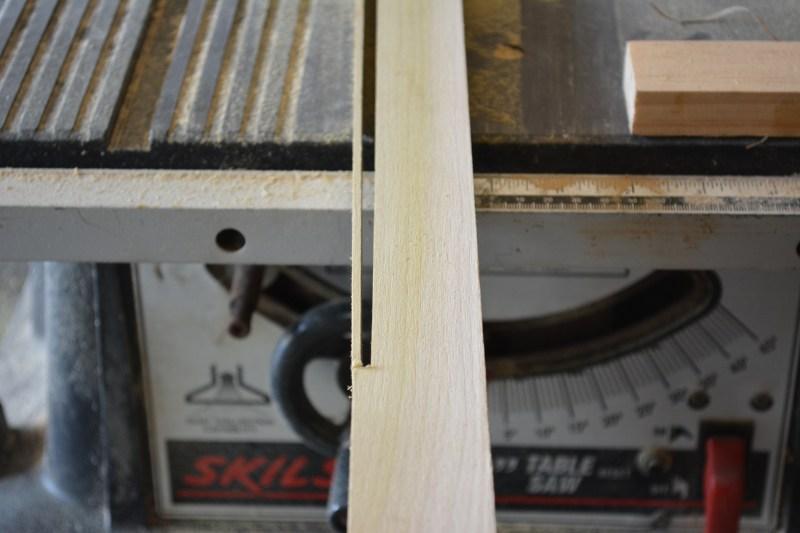 Cutting an inlay strip
