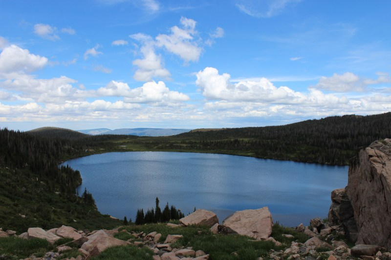 Nothing but wilderness for miles as seen from Upper Camp Lake