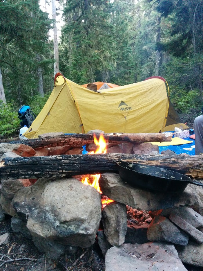 Olallie Lake cooking