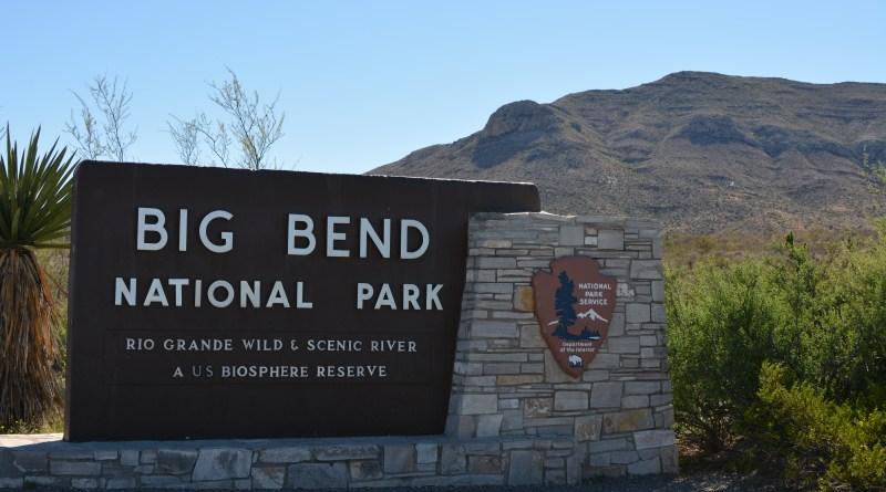 Big Bend National Park welcome sign