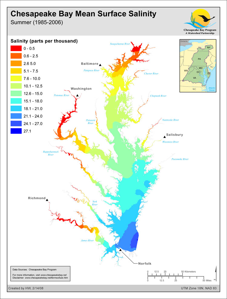 Chesapeake Bay Salinity Gradient